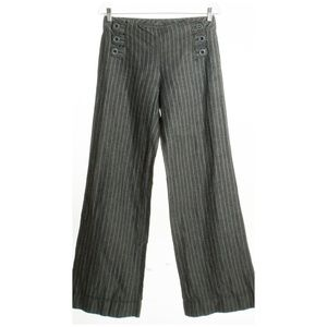 ELEVENSES Anthropologie Linen Sailor Trousers